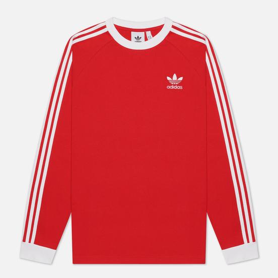 Мужской лонгслив adidas Originals 3-Stripes Scarlet