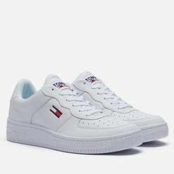 Мужские кроссовки Tommy Jeans Mono-Colour Cupsole Trainers White