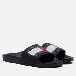 Мужские сланцы Tommy Jeans Rubber Flag Pool Slide Black