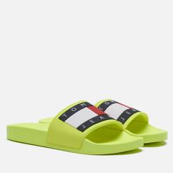 Мужские сланцы Tommy Jeans Rubber Flag Pool Slide Hyper Yellow