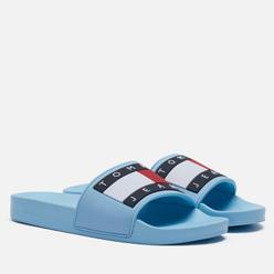 Женские сланцы Tommy Jeans Essential Logo Pool Slide Sail Blue