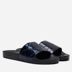 Женские сланцы Tommy Jeans Embossed Patent Slide Black