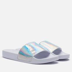Женские сланцы Tommy Jeans Embossed Patent Slide White