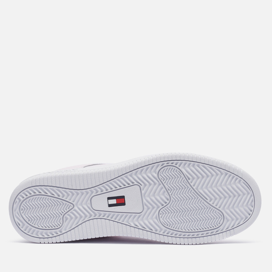 Женские кроссовки Tommy Jeans Textured Leather Basket Cupsole Light Pink