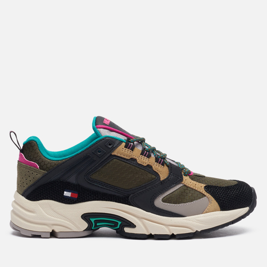 Женские кроссовки Tommy Jeans Archive Textile Mix Runner Army Green