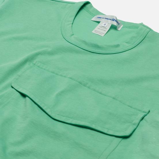 Мужская футболка Comme des Garcons SHIRT Exaggerated Pocket Green