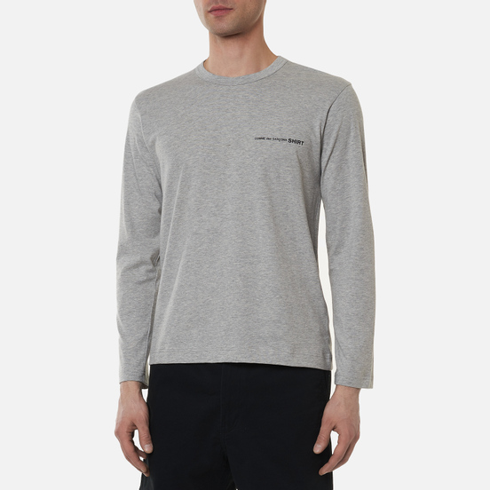 Мужской лонгслив Comme des Garcons SHIRT Front Logo Grey