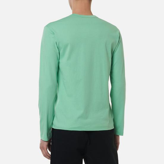 Мужской лонгслив Comme des Garcons SHIRT Front Logo Green