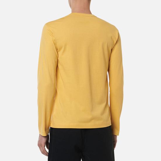 Мужской лонгслив Comme des Garcons SHIRT Front Logo Yellow