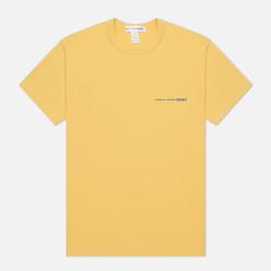 Мужская футболка Comme des Garcons SHIRT Front Logo Yellow