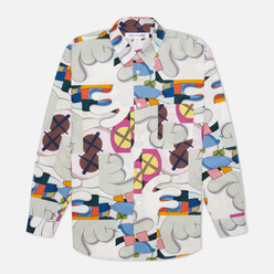 Мужская рубашка Comme des Garcons SHIRT x KAWS Print I White/Multicolor