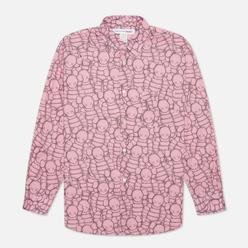 Мужская рубашка Comme des Garcons SHIRT x KAWS Print B Pink