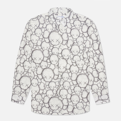 Мужская рубашка Comme des Garcons SHIRT x KAWS Print A White