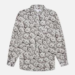 Мужская рубашка Comme des Garcons SHIRT x KAWS Print D White/Black