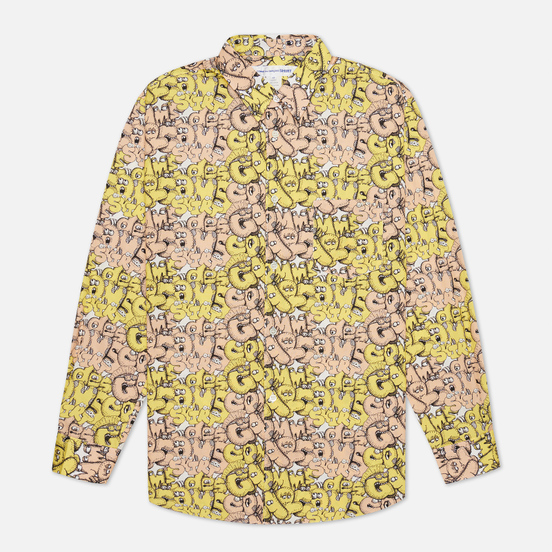 Мужская рубашка Comme des Garcons SHIRT x KAWS Print F Yellow/Peach