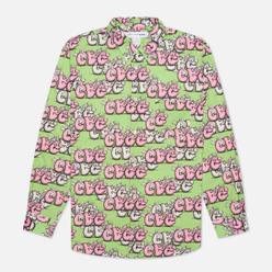 Мужская рубашка Comme des Garcons SHIRT x KAWS Print G Green/Pink
