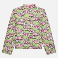 Мужская куртка Comme des Garcons SHIRT x KAWS Print G/B Green/Pink