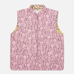 Мужской жилет Comme des Garcons SHIRT x KAWS Print B/F Pink/Yellow