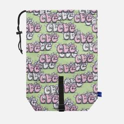 Сумка Comme des Garcons SHIRT x KAWS Drawstring Green/Pink