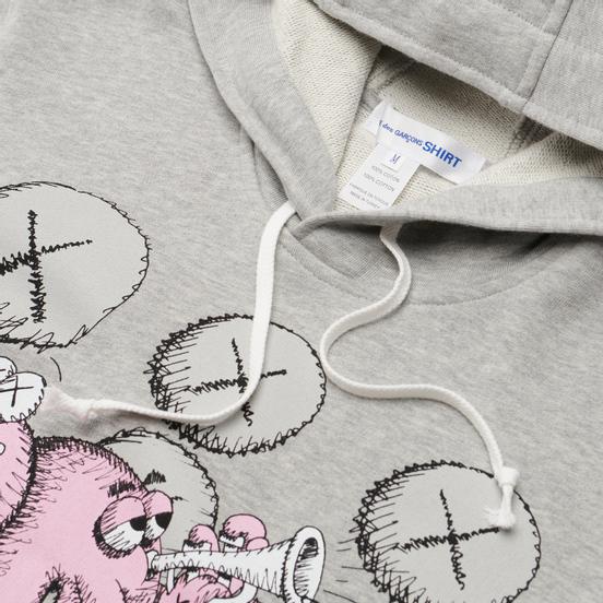 Мужская толстовка Comme des Garcons SHIRT x KAWS Print 2 Hoodie Grey