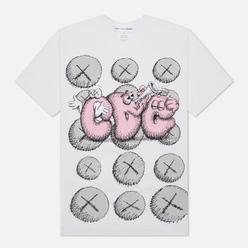 Мужская футболка Comme des Garcons SHIRT x KAWS Print 2 White