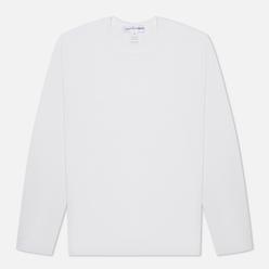 Мужской лонгслив Comme des Garcons SHIRT Back Logo White