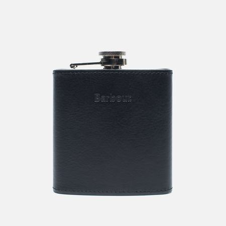 Barbour Lifestyle Hipflask Giftbox Flask Black