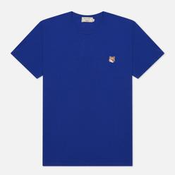 Мужская футболка Maison Kitsune Fox Head Patch Royal Blue