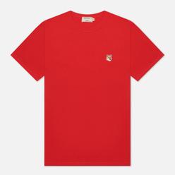 Мужская футболка Maison Kitsune Fox Head Patch Red
