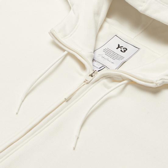 Мужская толстовка Y-3 Classic Back Logo Full-Zip Hoodie Core White