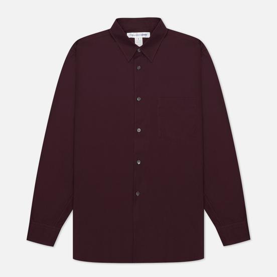 Мужская рубашка Comme des Garcons SHIRT Forever Wide Сlassic Burgundy