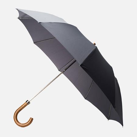 London Undercover Maple Handle Folding Umbrella Dark Grey