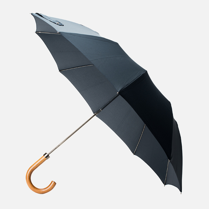 London Undercover Maple Handle Folding Umbrella Dark Navy