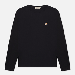 Мужской лонгслив Maison Kitsune Fox Head Patch Black