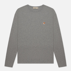 Мужской лонгслив Maison Kitsune Fox Head Patch Grey Melange