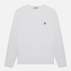 Мужской лонгслив Maison Kitsune Fox Head Patch White