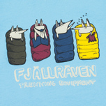Детская футболка Fjallraven Sleeping Foxes Bluebird фото- 2