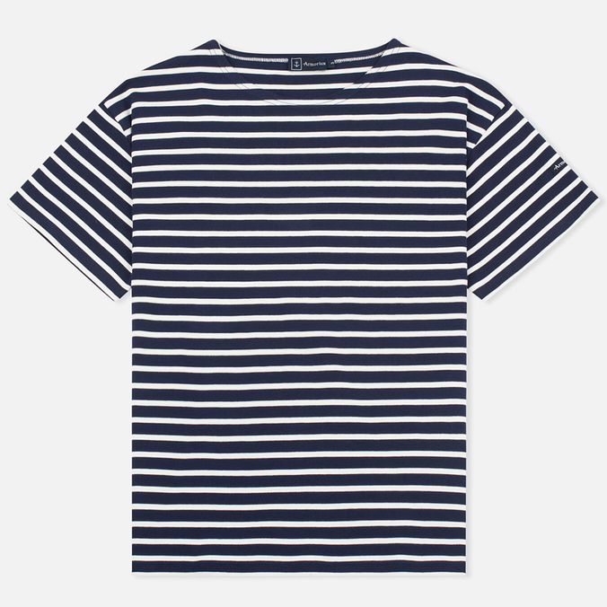 Мужская футболка Armor-Lux Mariniere Doelan Navy Blue/Nature