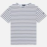 Мужская футболка Armor-Lux Mariniere Doelan White/Navy Blue фото- 0