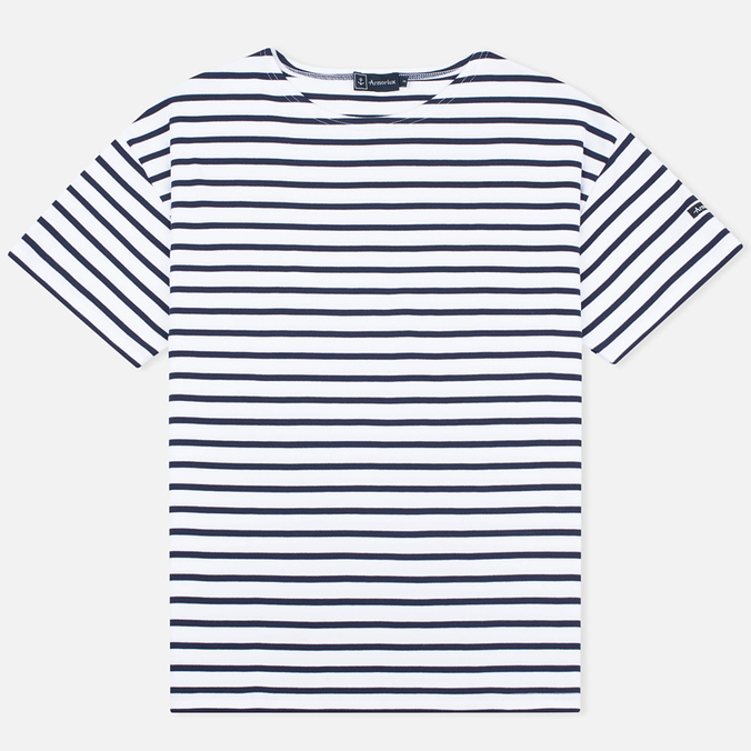 Мужская футболка Armor-Lux Mariniere Doelan White/Navy Blue