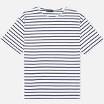 Armor-Lux Mariniere Theviec Men's T-shirt Blanc/Navire photo- 0