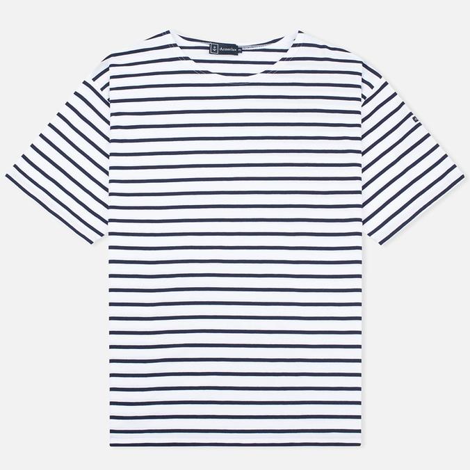 Armor-Lux Mariniere Theviec Men's T-shirt Blanc/Navire