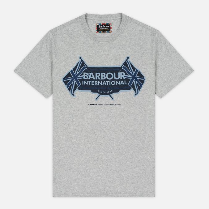 Мужская футболка Barbour International Flags Grey Marl