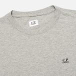 Мужская футболка C.P. Company Hood Print Grey Melange фото- 2