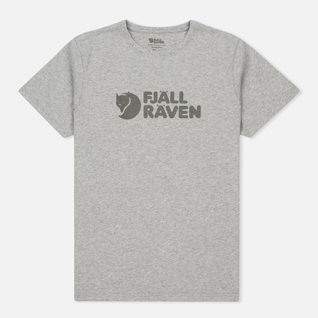Fjallraven Logo Men's T-shirt Grey
