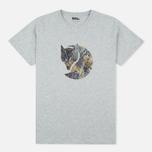 Мужская футболка Fjallraven Rock Logo Grey фото- 0