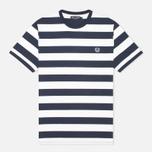 Мужская футболка Fred Perry Striped Ringer White фото- 0
