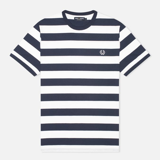 Fred Perry Striped Ringer Men's T-shirt White