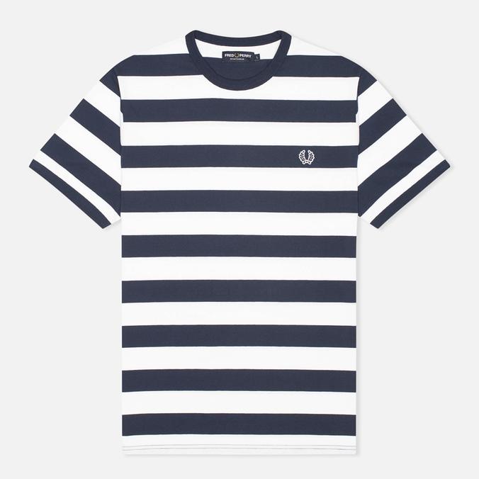 Мужская футболка Fred Perry Striped Ringer White