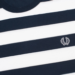Мужская футболка Fred Perry Striped Ringer White фото- 2
